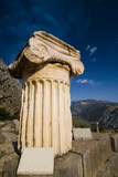 greek ionic column with capital poster