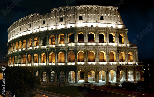 roman colliseum at night