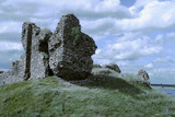 irish castle ruins poster