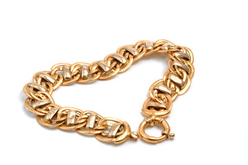 gold bracelet in heart