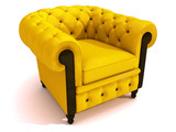 yellow couch poster