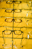 eyeglasse frames on wall display poster