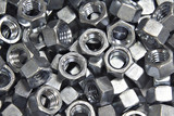pile of hex nuts