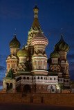 st. basil cathedral inthe evening. moscow, russia poster