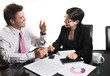 business negotiation - isolated