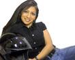 happy latina biker