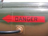 aircraft - danger sign poster