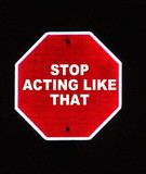 stop acting poster
