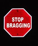 stop bragging poster