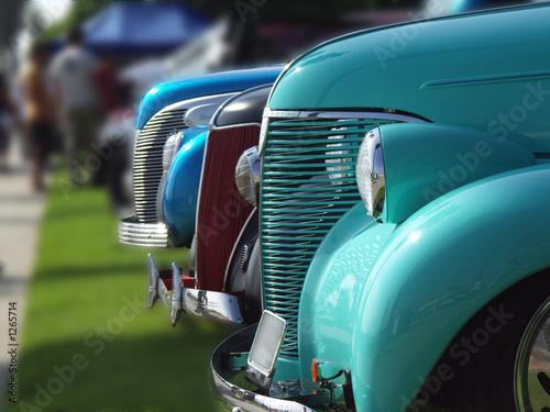 Foto op Canvas Vintage cars lineup