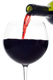 red wine pouring down from a wine bottle (clipping poster