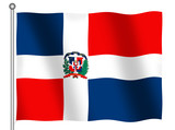 flag of the dominican republic waving poster