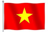 flag of the socialist republic of vietnam waving poster