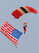 parachuter with us flag