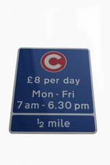 congestion zone charge sign