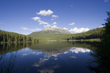 panorama of the charming alces lake poster