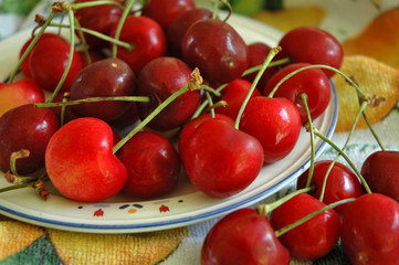 a plate of cherries...