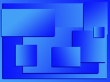 blue rectangles background poster