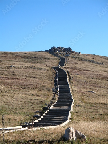 high mountian stairs