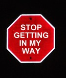 stop sign humor poster