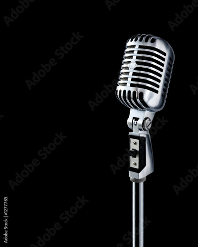"canvas print picture professional ""retro"" microphone"