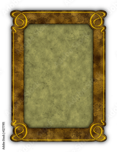 art nouveau vintage grunge frame (with paths)