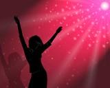 the girl dances in magic light poster