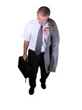 tired businessman poster