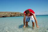 eau turquoise de belle île poster