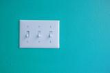 light switch light blue poster