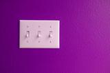 light switch purple poster