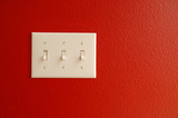 light switch red poster