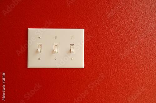 light switch red