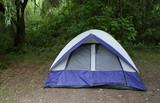 campsite tent poster