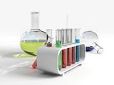 flasks & test tubes poster