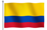 flag of colombia waving poster
