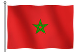 flag of morocco waving poster