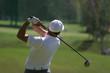 Leinwandbild Motiv golf swing finish