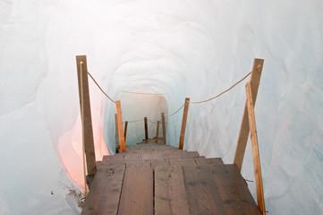 footbridge inside the ice cave