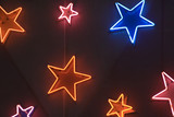 star shaped neon lights poster