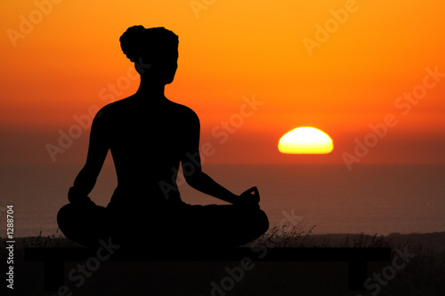 Leinwanddruck Bild yoga