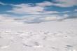 Leinwandbild Motiv snow dunes