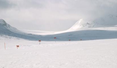 ski hiking trail