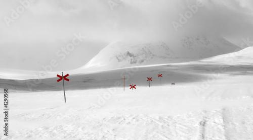 Leinwandbild Motiv red crosses