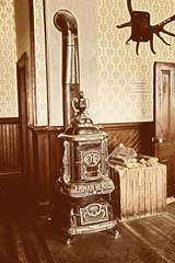 german heater in a vintage hotel room