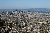 san francisco view from twin peaks hills poster