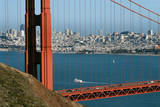 san francisco through the golden gate poster