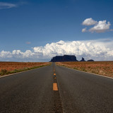 road with no end in monument valley national park poster