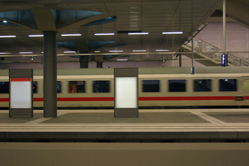 modern train arriving