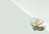 ringe und weiße rose i love you-gravur poster